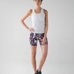 Lululemon speed track shorts in pop cut bloom sz 4
